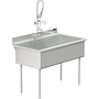 UTILITY SINK 48 X 24 W / PULL DOWN SPRAYER