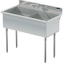 UTILITY SINK TWO COMP 21 X 18