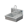 BRAZOS 16GA 20 X 15 X 5 HANDSINK W / WALL FAUCET AND WRIST BLADE HANDLES