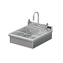 BRAZOS 17 x 17 x 5 HANDSINK WITH DECK FAUCET AND WRIST BLADE HANDLES
