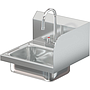 COMAL 14 X 10 X 5 HANDSINK WITH DECK FAUCET END SPLASH RIGHT
